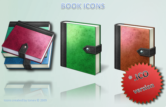 Book icons .ico by tonev