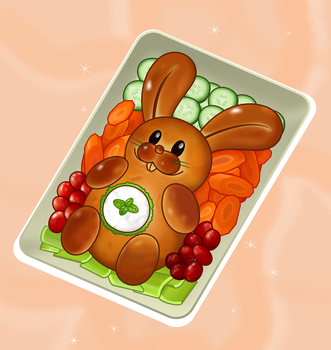 Sweet bunny bread by NgTTh