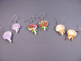 Lollipop Earrings by spongekitty