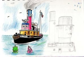 TUGS in Pencils by qwertypictures