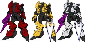 Elite Gundam Alternate Colors by dracostarcloud