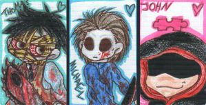Leatherface, Myers and Jigsaw by Jurana