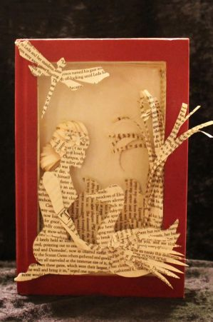 Leda and the Swan Book Sculpture