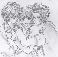Drawing - Brother Conflict - Yuusuke/Ema/Fuuko by SouzouRinkan