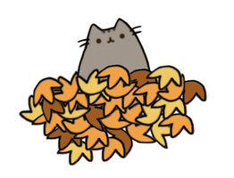 Pusheen!!! Theme Fall by YellowKiiroitori