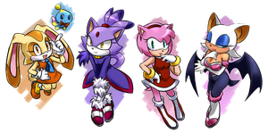 Sonic Team Girls by GaruGiroSonicShadow
