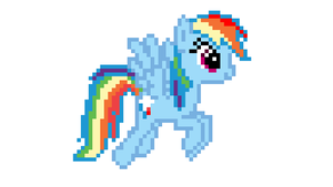 Rainbow Dash is 32 Bits Cooler! by LegoGuy87