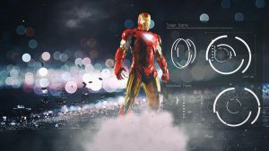 Iron Man Industrial Wallpaper by Binary-Map