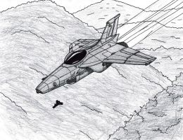 Viperidae Light Fighter Flies Through Valleys by TheCentipede