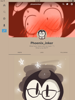 Tumblr account I made a few weeks ago or a month by xXRay-PhoenixXx