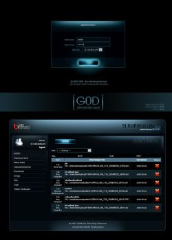 G0D adminpanel interface by B21