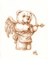 Cupid Teddy Bear by Gib-Pinups-And-Toons