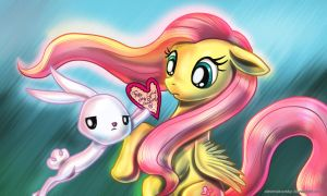 Happy Valentine Day Fluttershy by alexmakovsky