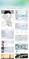 Freebie - PSD Mobile Ui Kit by GraphBerry