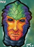 Drell sketchAday 1 by jam-bad