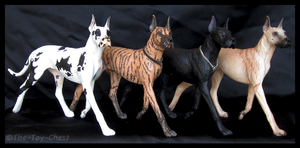 Breyer Companion Animals - Great Danes by The-Toy-Chest