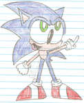 Sonic the Hedgehog (Panty and Stocking Format) by Sonicdude645
