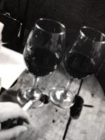 Wine cups in a lost night by johnmanga
