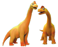 Ned And Bella Brachiosaurus Vector by DigiPonyTheDigimon