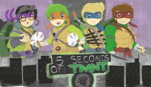5 Seconds of Summer Ninja Turtles by OneDirectionFanJohn