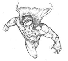 Generic Superman Sketch by spacehater