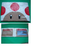 Toad Duct Tape Wallet by LishaChan