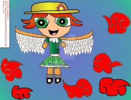 Puffed Angel In Red Clouds 2012 by MexEmperorRamsesII