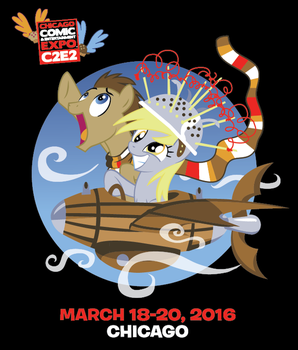 Derpy and the Doctor - C2E2 Exclusive Shirt by xkappax