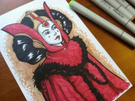 Queen Amidala marker sketch by khallion