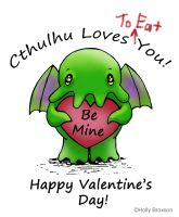 Cthulhu loves you by flutterbliss