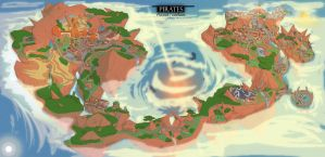 World map of the first game by Deniya