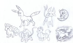 pokemon sketches by TamilaB