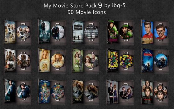 My Movie Store DVDs Pack 9 by ibg-5
