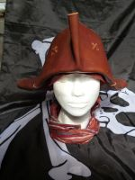 Stitched Leather Tricorn/ Pirate Hat by emma-hobbit