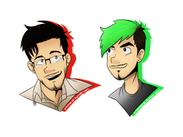 Which one? ft Markiplier/Jacksepticeye by xOtakuStarx
