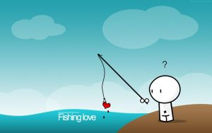 Fishing love by pincel3d