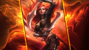 League of Legends WP - Fiery Katarina WP by DioHard