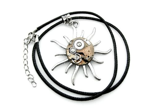Steampunk Sun Necklace by IndustrialSwank