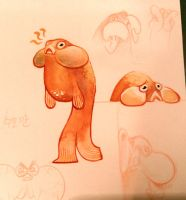 goldfish character concept by pikaole