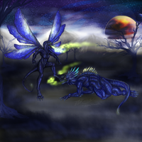 Alien Dragon Insectoid Things by RoomsInTheWalls