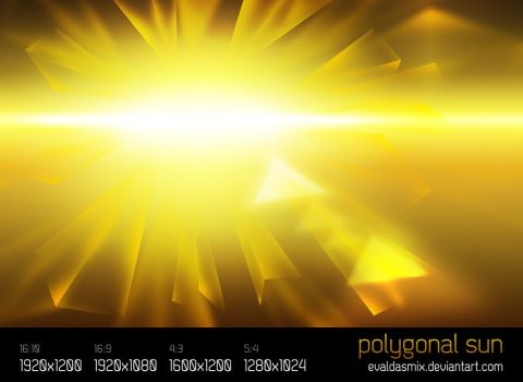 Polygonal Sun by evaldasmix