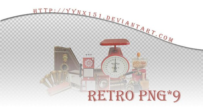 Retro png pack #09 by yynx151