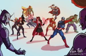 Avengers by Spidersaiyan
