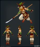 """Sylvan Warrior"" Game Model by MrCheez"