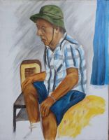 Seated old man by ogwynne
