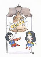 Cracking the Liberty Bell by FairyKitsch