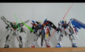 Some of the Gundams of the AUs by Deadman0087