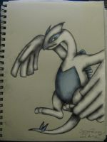 my attempt at drawing Lugia -color- by ownerfate