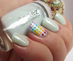 Simple Rainbow Dotticure with Rainbow Flakies! by Ithfifi