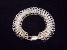 Silver Hp3-1sheet6 Bracelet by Shizzar